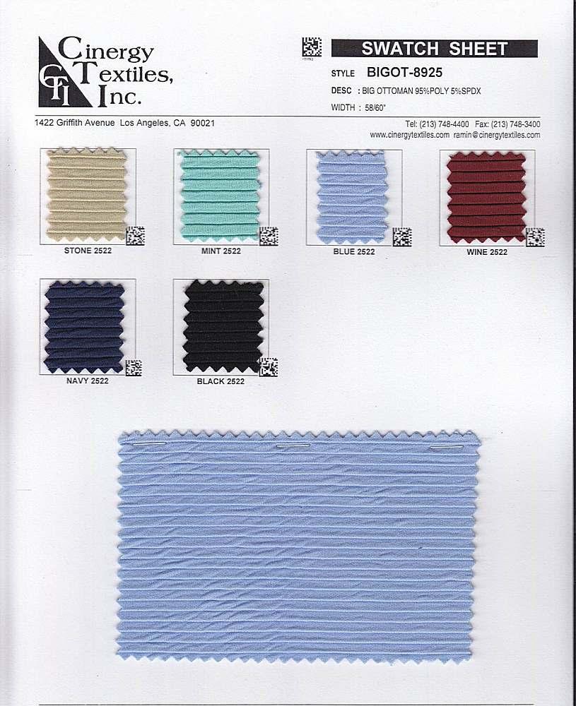 BIGOT-8925 / Big Ottoman RIB 98%Polyester 2%Spandex