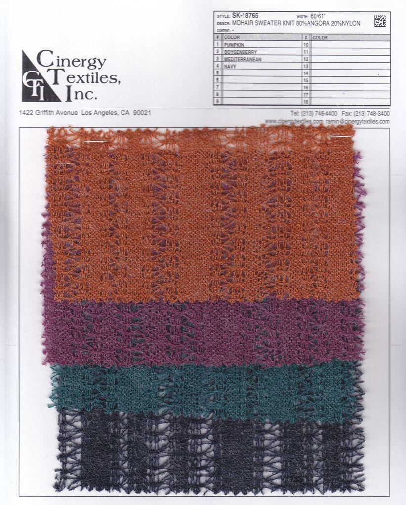 <h2>SK-18765</h2> / FAMILY          / Mohair Sweater Knit 80%Angora 20%Nylon