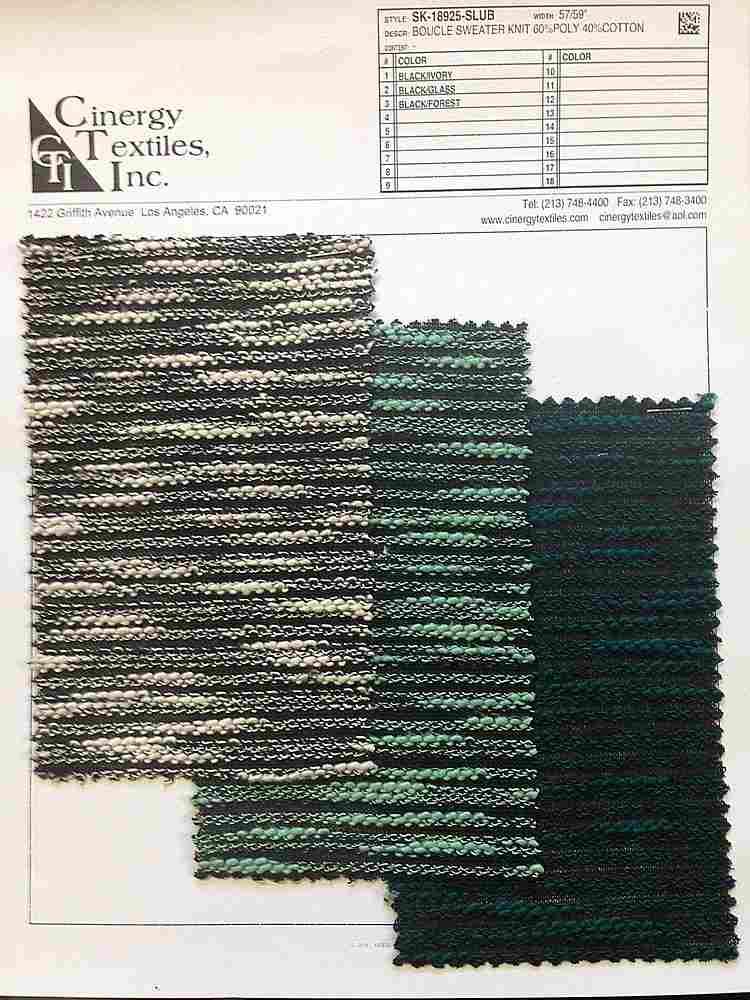 <h2>SK-18925-SLUB</h2> / FAMILY          / Boucle Sweater Knit 60%Poly 40%Cotton