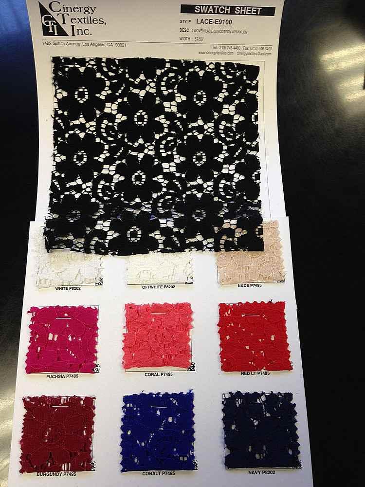 LACE-E9100 / Woven Lace 60%Cotton 40%Nylon