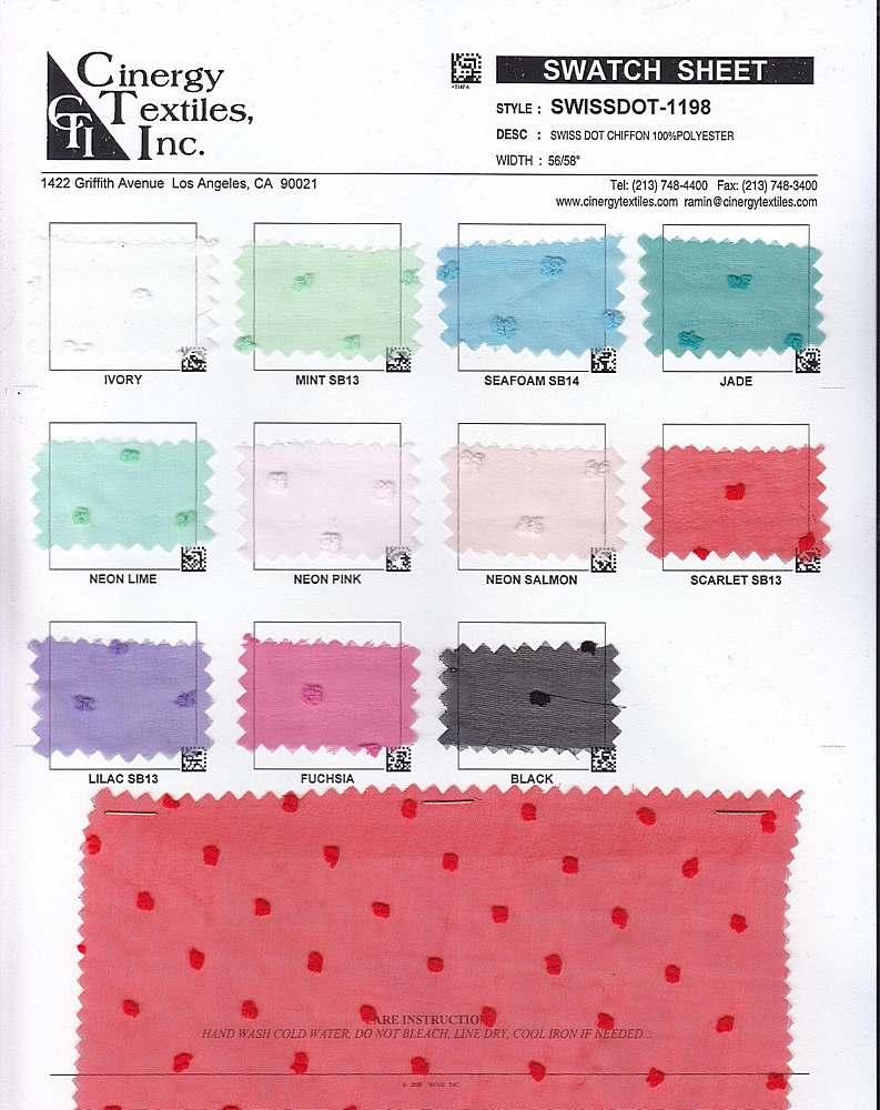 SWISSDOT-1198 / Swiss Dot Chiffon 100%Polyester