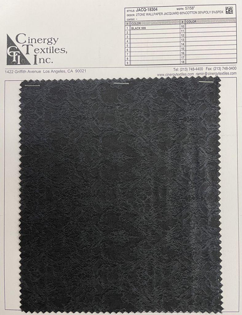JACQ-18304 / 2Tone Wallpaper Jacquard 60%Cotton 35%Poly 5%Spdx