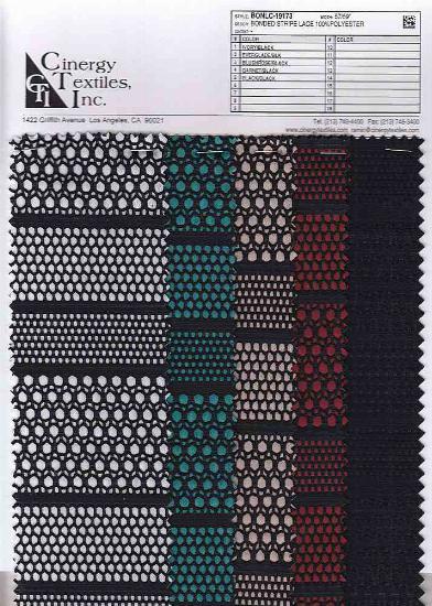 BONLC-19173 / Bonded Stripe Lace 100%Polyester