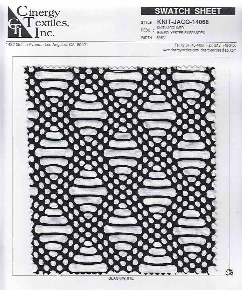 <h2>KNIT-JACQ-14068</h2> / FAMILY          / Knit Jacquard 94%Polyester 6%Spandex