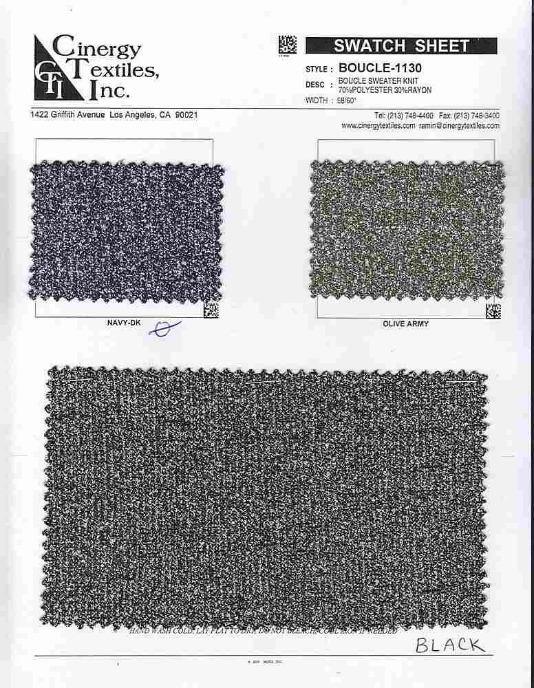 BOUCLE-1130 / Boucle Sweater Knit 70%Polyester 30%Rayon