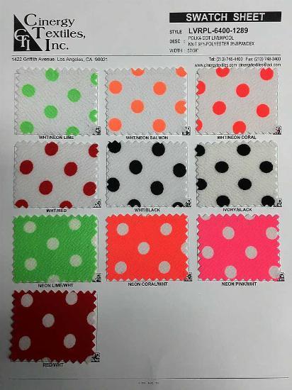 LVRPL-6400-1289 / Polka Dot Liverpool Knit 97%Polyester 3%Spandex
