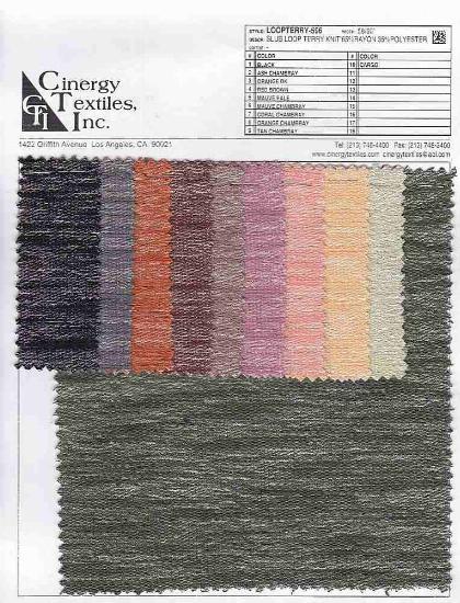 LOOPTERRY-596 / Slub Loop Terry Knit 65%Rayon 35%Polyester