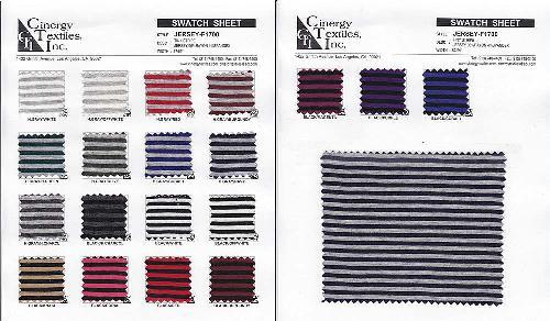 JERSEY-F1700 / Tiny Stripe Jersey 96%Rayon 4%Spandex