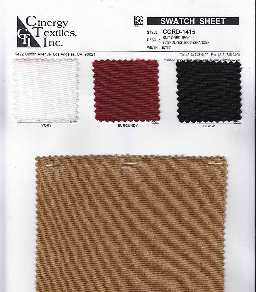 <h2>CORD-1415</h2> / FAMILY          / Knit Corduroy 95%Polyester 5%Spandex
