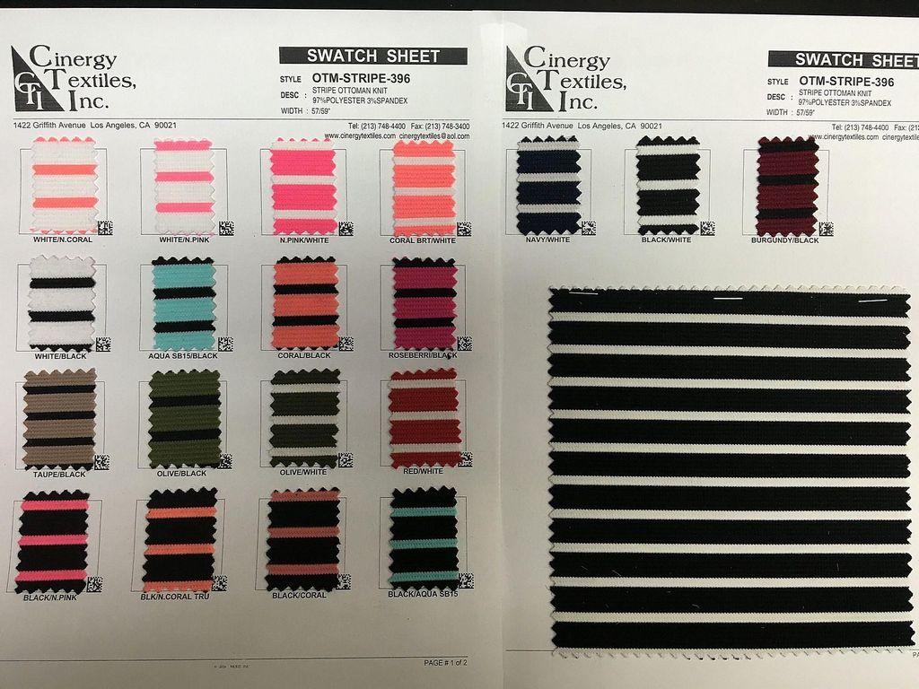 <h2>OTM-STRIPE-396</h2> / FAMILY          / Stripe Ottoman Knit 97%Polyester 3%Spandex