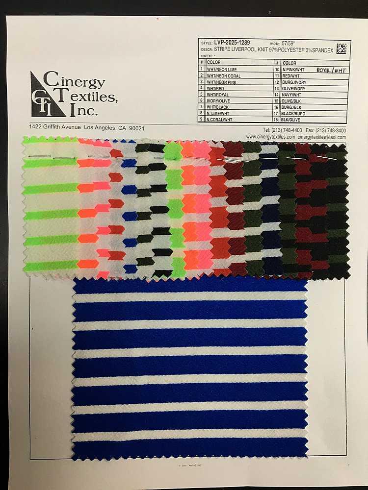 <h2>LVP-2025-1289</h2> / FAMILY          / Stripe Liverpool Knit 97%Polyester 3%Spandex
