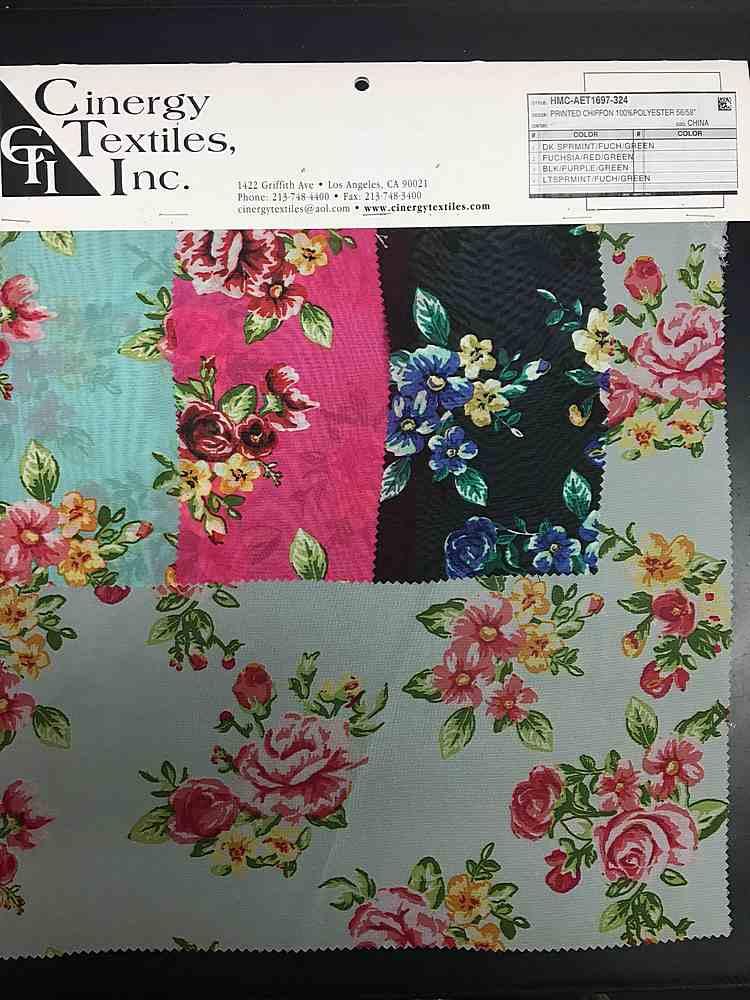 HMC-AET1697-324 / Printed Chiffon 100%Polyester