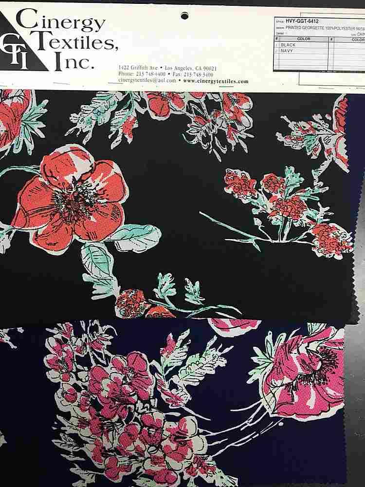HVY-GGT-6412 / Printed Georgette 100%Polyester