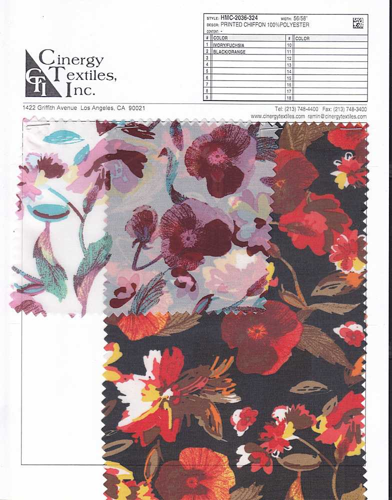 HMC-2036-324 / Printed Chiffon 100%Polyester