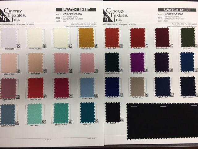 <h2>KCREPE-E9000</h2> / FAMILY          / Knit Techno Crepe 96%Polyester 4%Spandex