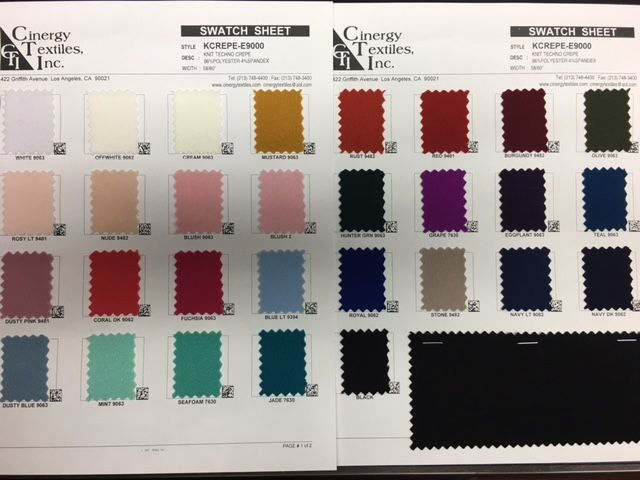 KCREPE-E9000 / Knit Techno Crepe 96%Polyester 4%Spandex