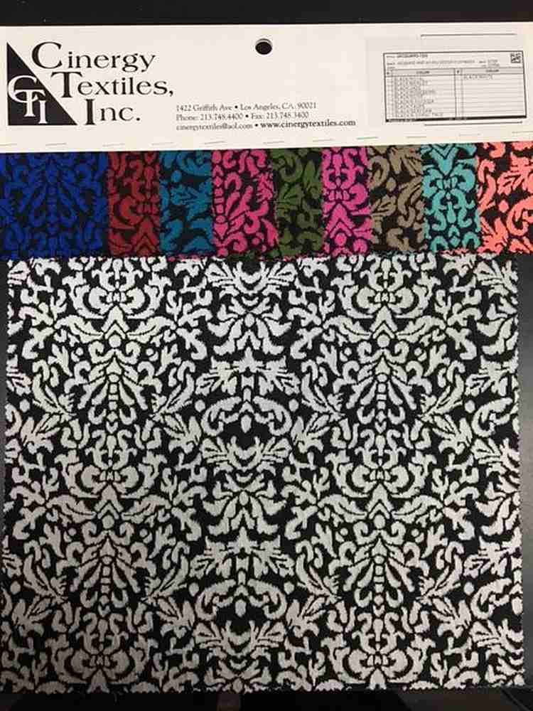 JACQUARD-1302 / Jacquard Knit 95%Polyester 5%Spandex