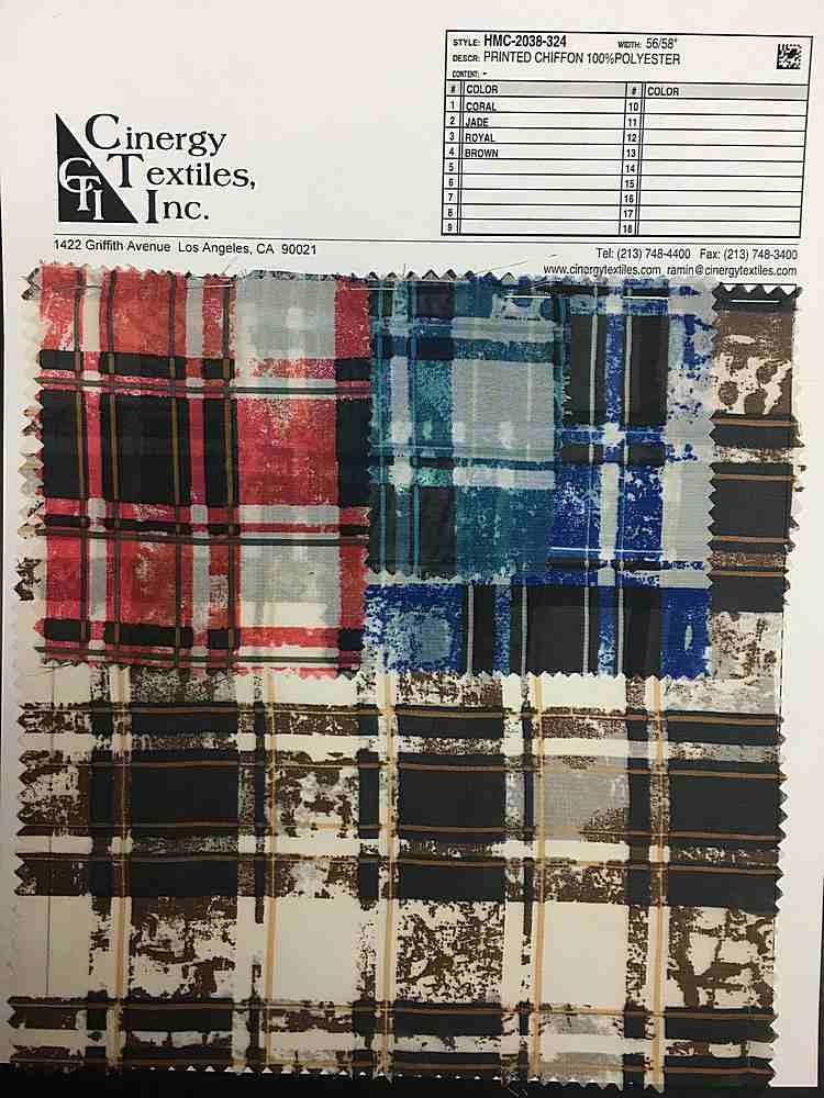 HMC-2038-324 / Printed Chiffon 100%Polyester
