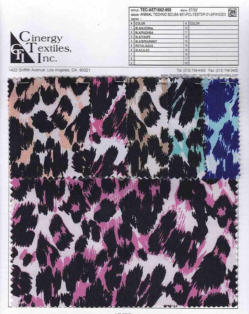 TEC-AET1662-956 / Animal Techno Scuba 95%Polyester 5%Spandex