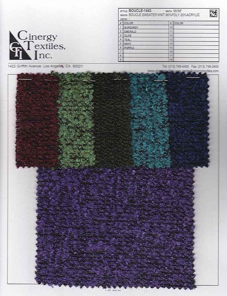 Boucle Sweater Knit 80poly 20acrylic Cinergytextiles