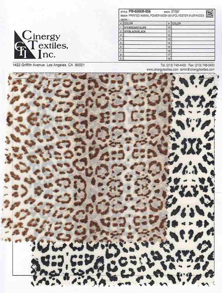 <h2>PM-6566M-856</h2> / FAMILY          / Printed Animal Power Mesh 95%Polyester 5%Spandex