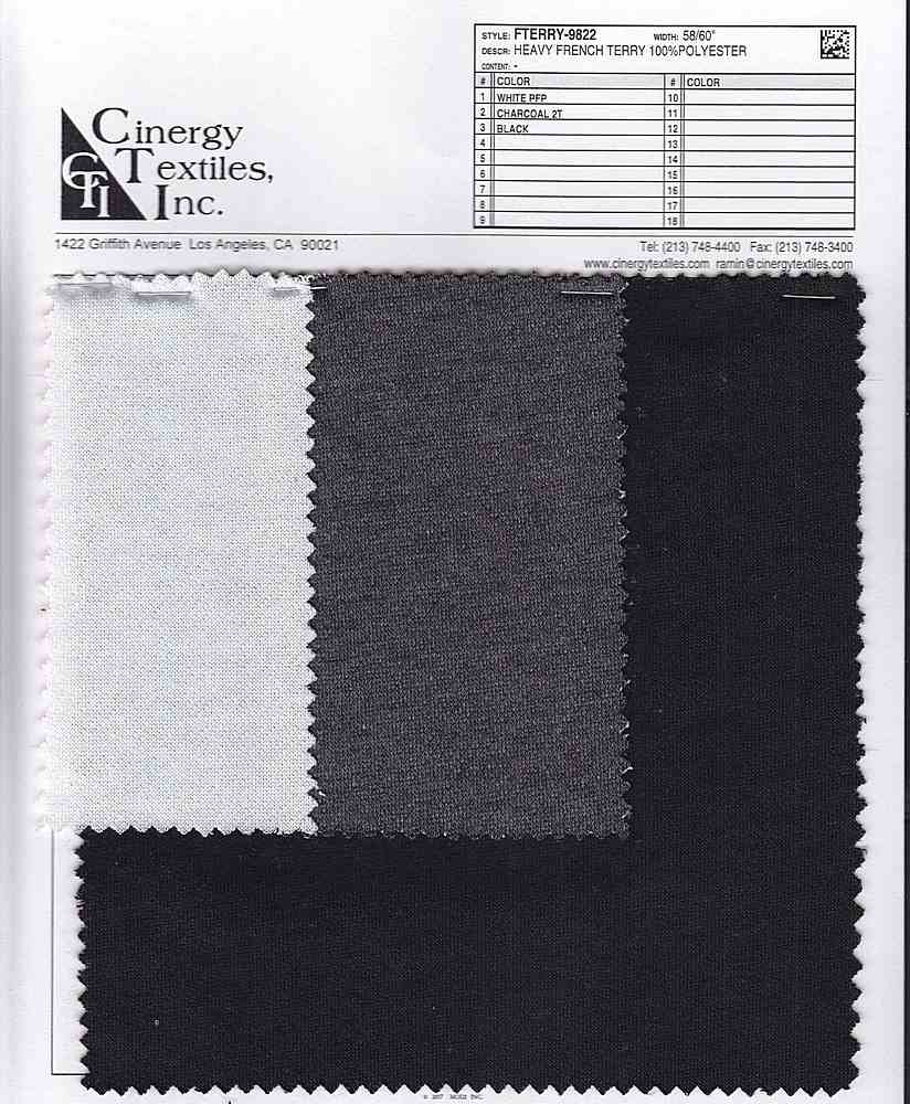 FTERRY-9822 / Heavy French Terry 100%Polyester