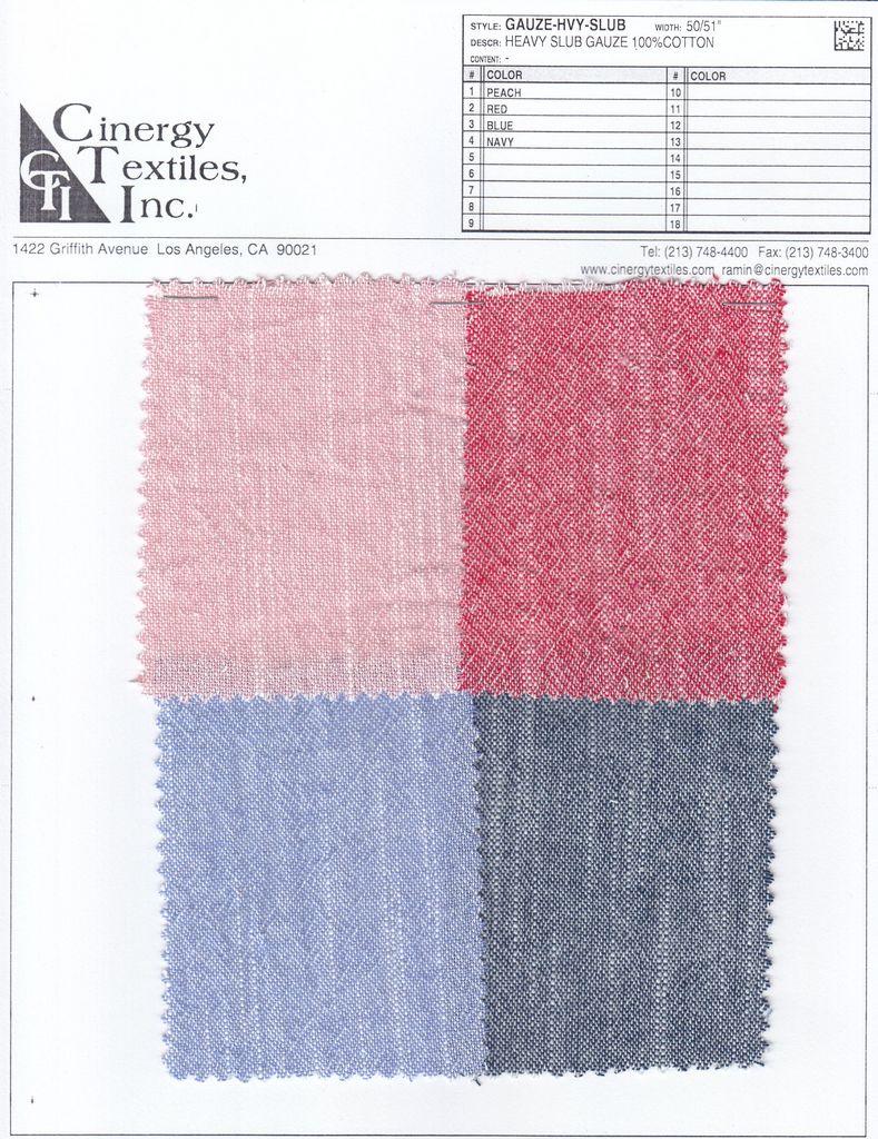 GAUZE-HVY-SLUB / Heavy Slub Gauze 100%Cotton