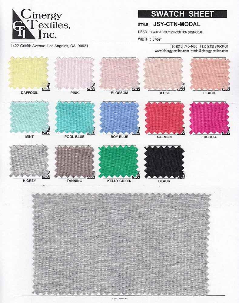 JSY-CTN-MODAL / Baby Jersey 50%Cotton 50%Modal