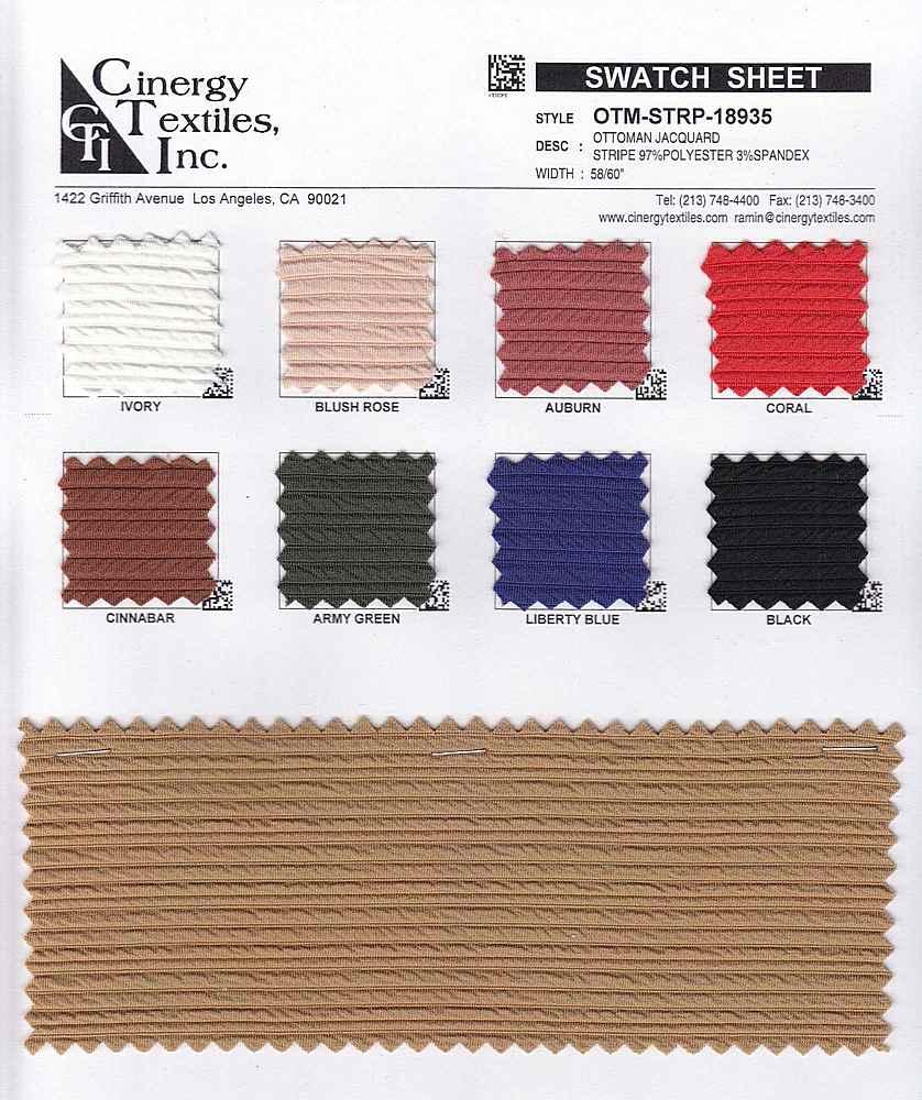 OTM-STRP-18935 / Ottoman Jacquard Stripe 97%Polyester 3%Spandex