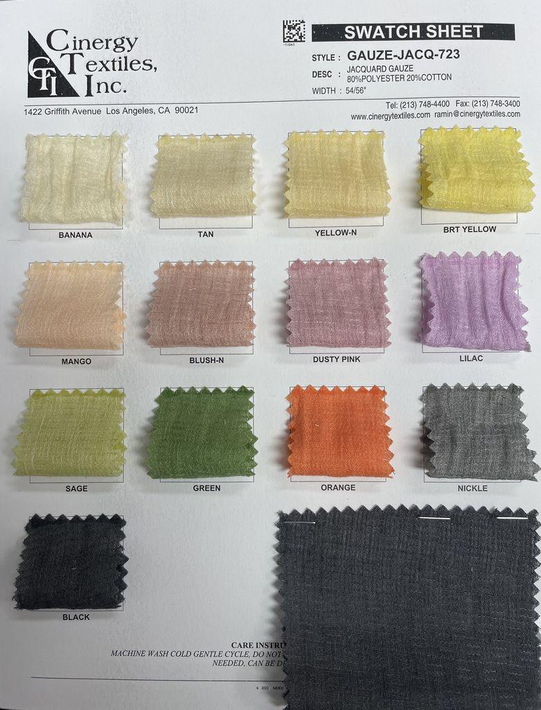 GAUZE-JACQ-723 / Jacquard Gauze 80%Polyester 20%Cotton