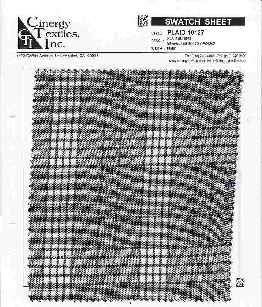PLAID-10137 / Plaid Suiting 98%Polyester 2%Spandex