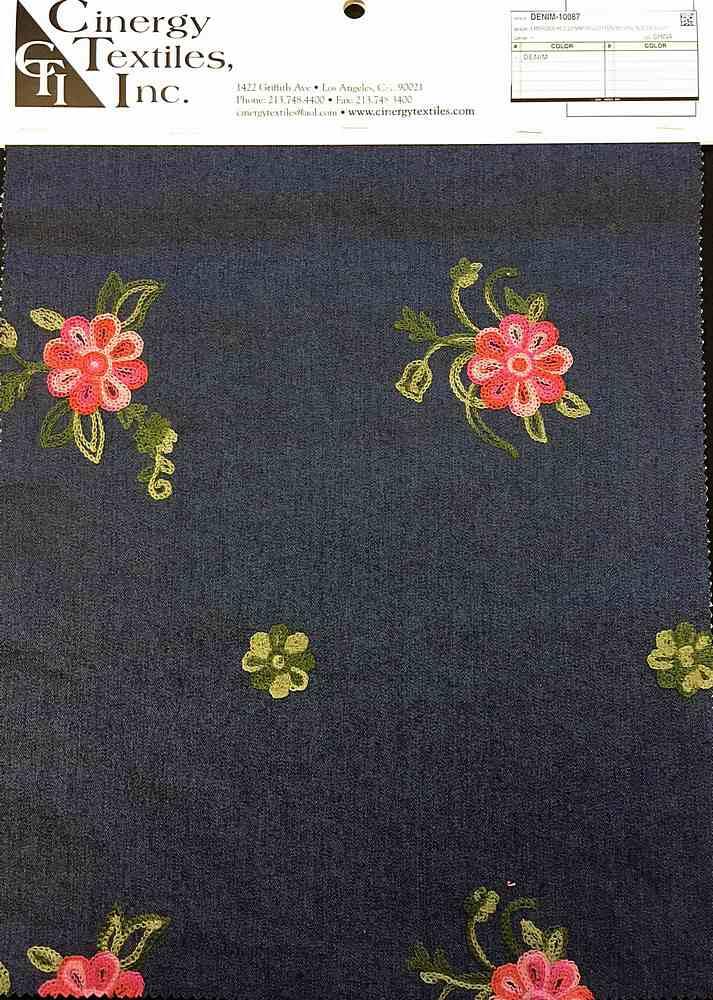 <h2>DENIM-10087</h2> / FAMILY          / Embroidered Denim 70%Cotton 30%Polyester