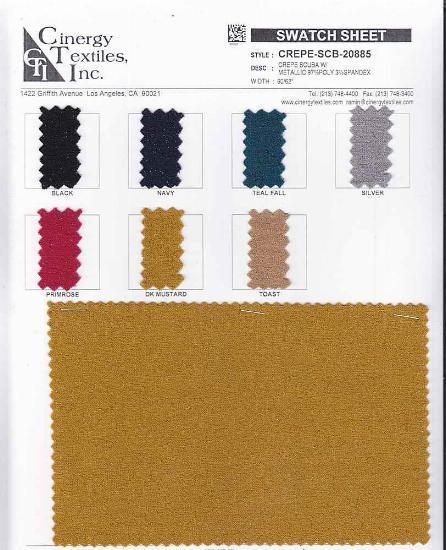 CREPE-SCB-20885 / Crepe Scuba W/Metallic 97%Poly 3%Spandex
