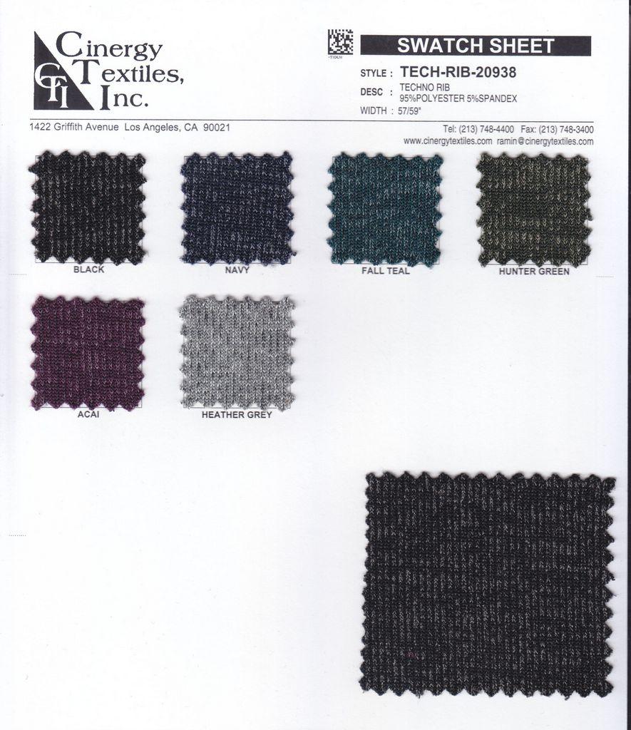 TECH-RIB-20938 / Techno Rib 95%Polyester 5%Spandex