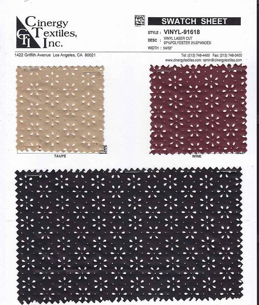 VINYL-91618 / Vinyl Laser Cut 97%Polyester 3%Spandex