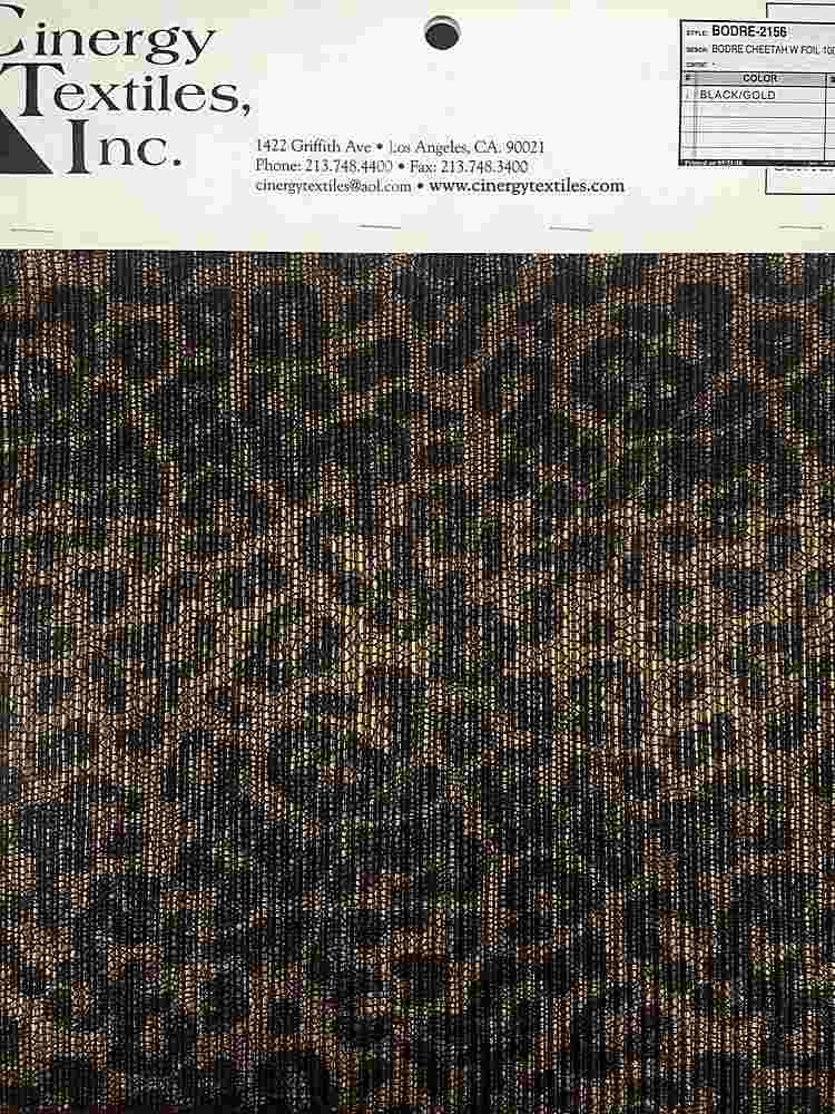 <h2>BODRE-2156</h2> / FAMILY          / BODRE CHEETAH W FOIL 100%POLYESTER