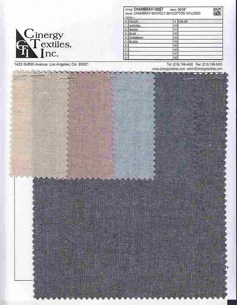 CHAMBRAY-10057 / Chambray 60%Poly 30%Cotton 10%Linen