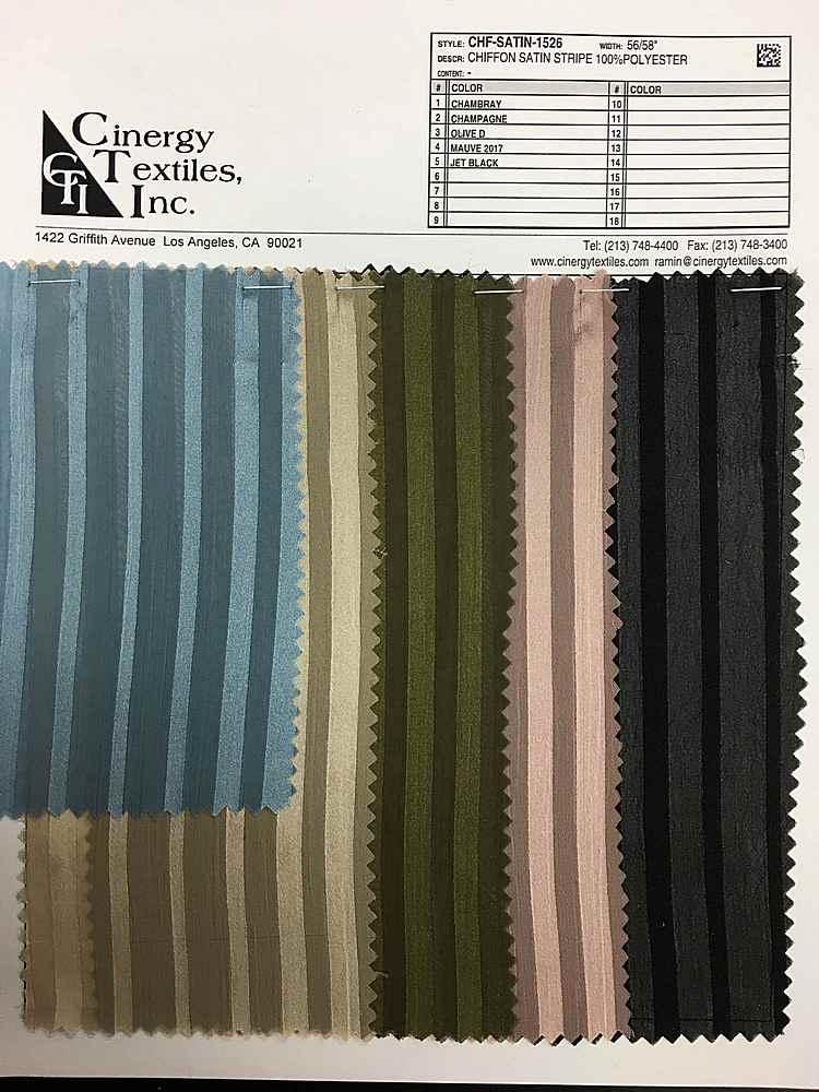 CHF-SATIN-1526 / Chiffon Satin Stripe 100%Polyester