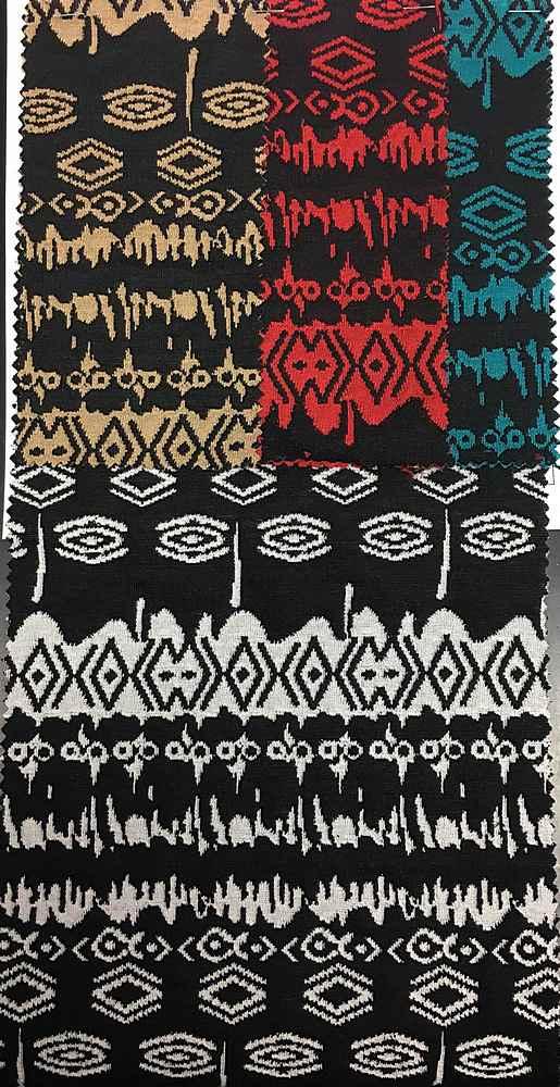 DBLKNIT-MX2444E / Double Knit Jacquard 97%Polyester 3%Spandex