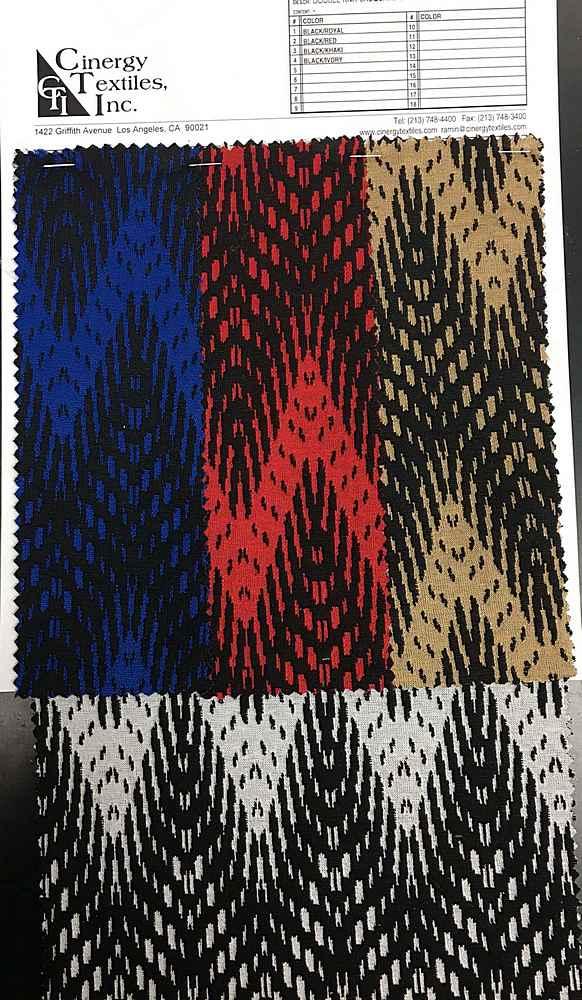 DBLKNIT-MX8432V / Double Knit Jacquard 97%Polyester 3%Spandex