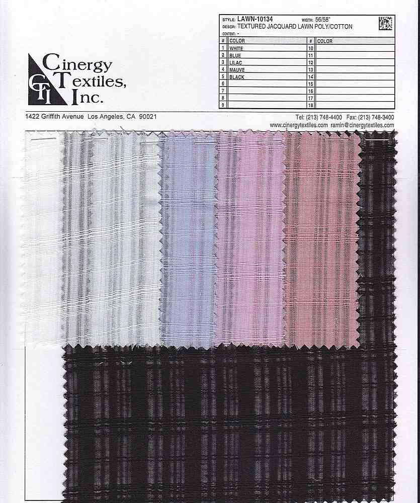LAWN-10134 / Textured Jacquard Lawn Poly/Cotton