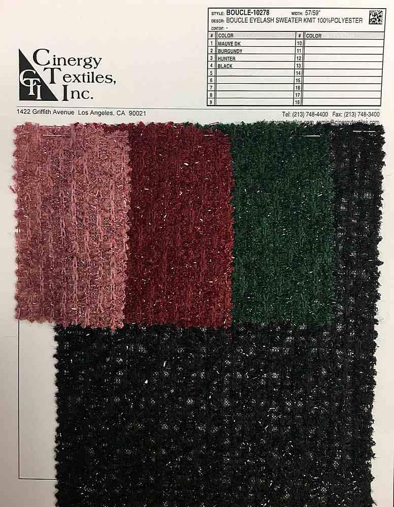 BOUCLE-10278 / Boucle Eyelash Sweater Knit 100%Polyester