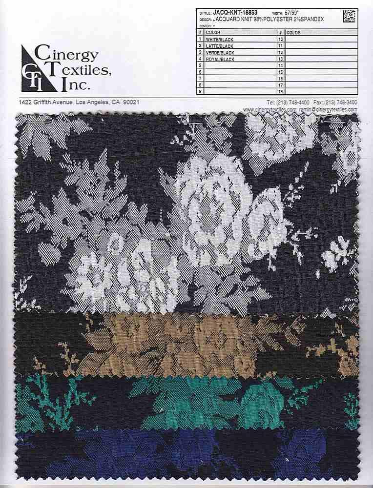 JACQ-KNT-18853 / Jacquard Knit 98%Polyester 2%Spandex