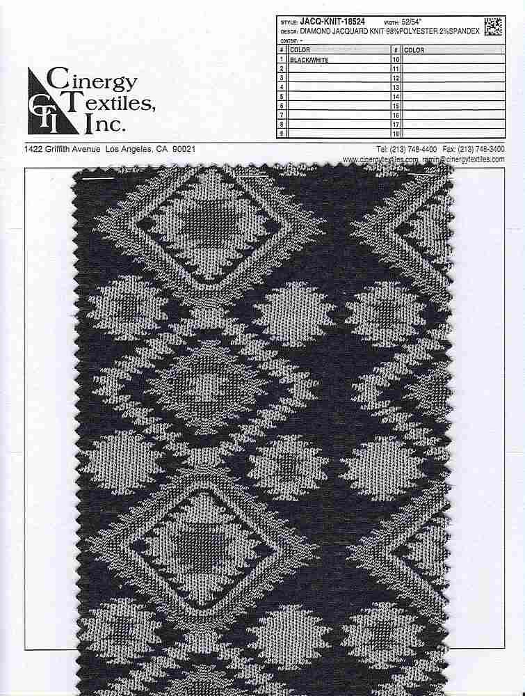 JACQ-KNIT-18524 / Diamond Jacquard Knit 98%Polyester 2%Spandex