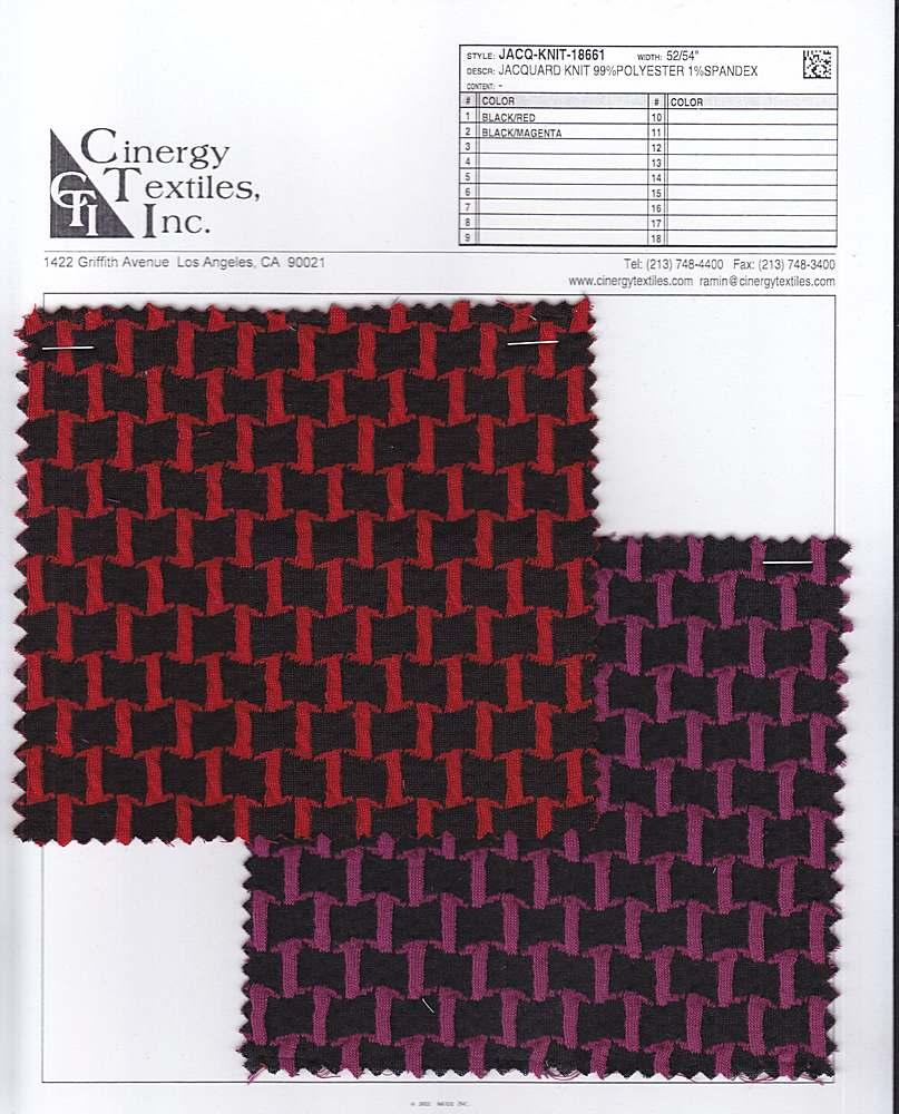 <h2>JACQ-KNIT-18661</h2> / FAMILY          / Jacquard Knit 99%Polyester 1%Spandex
