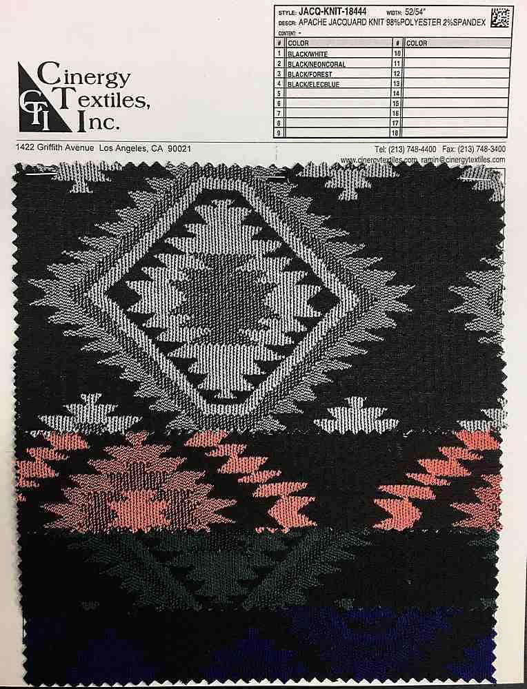 JACQ-KNIT-18444 / Apache Jacquard Knit 98%Polyester 2%Spandex