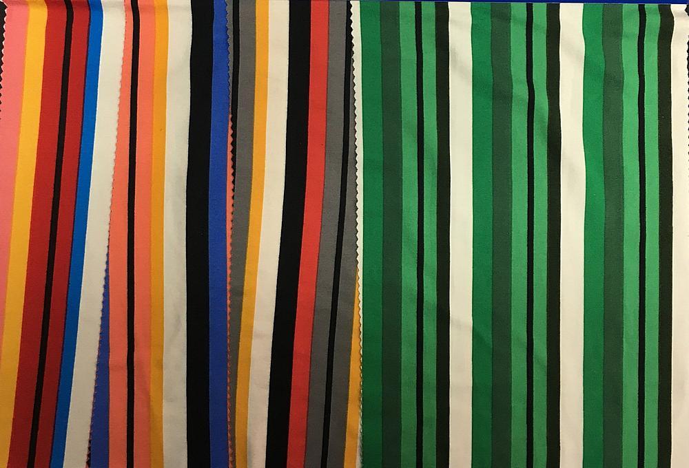 DTY-BR-18271-79 / Brushed DTY Jersey Stripe 97%Poly 3%Spandex