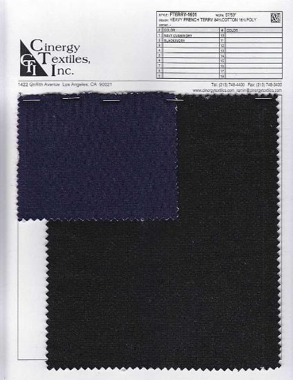 FTERRY-1601 / Heavy French Terry 84%Cotton 16%Poly