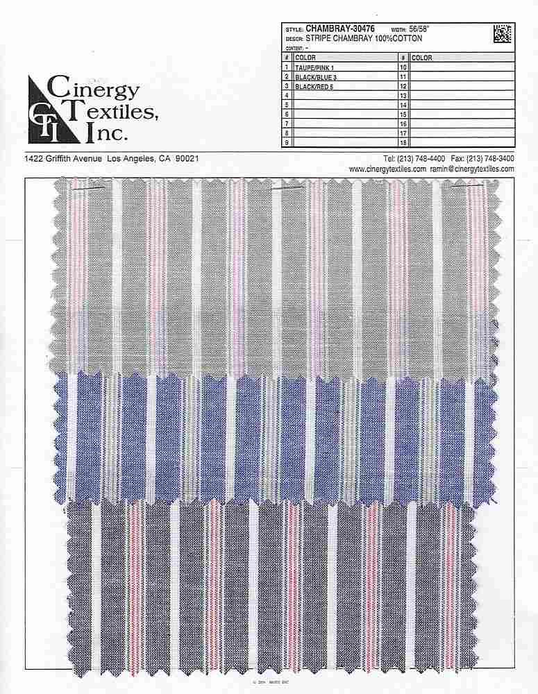 CHAMBRAY-30476 / Stripe Chambray 100%Cotton