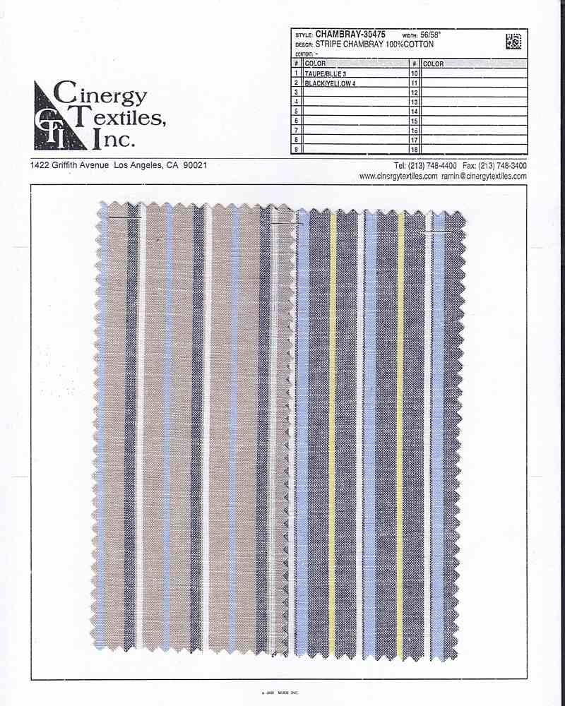 CHAMBRAY-30475 / Stripe Chambray 100%Cotton